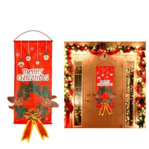 decoreruneportepournoel a02d1ef2 178b 4163 9f83 789ed127dd6f Bannières De Noël Pour La Décoration De Votre Porche