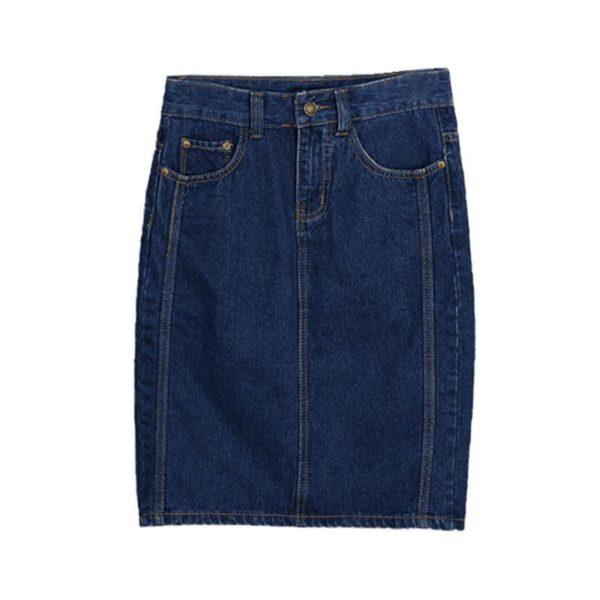 Jupe Fendue Denim Site Vêtements Bleu Foncé M