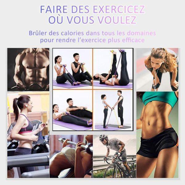 elastiqueechauffementmusculation Les Bandes De Résistance Pédale Pour Votre Séance De Fitness