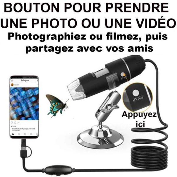 enlevercequevousvoyez Microscope Numérique Portable 1080P