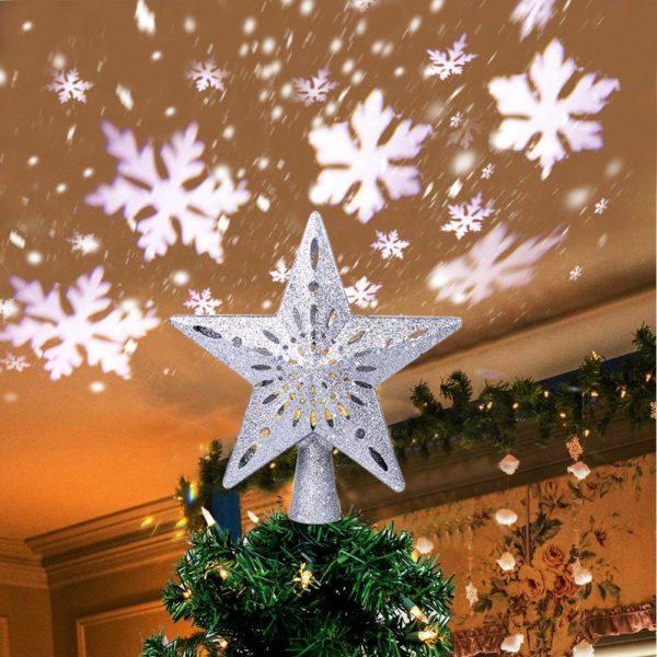 etoilesapindenoel Etoile Sapin De Noël Avec Projecteur De Flocon