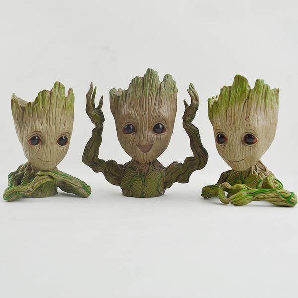 figurine groot Bébé Groot, Le Meilleur Gardien De Vos Plantes Et Stylos