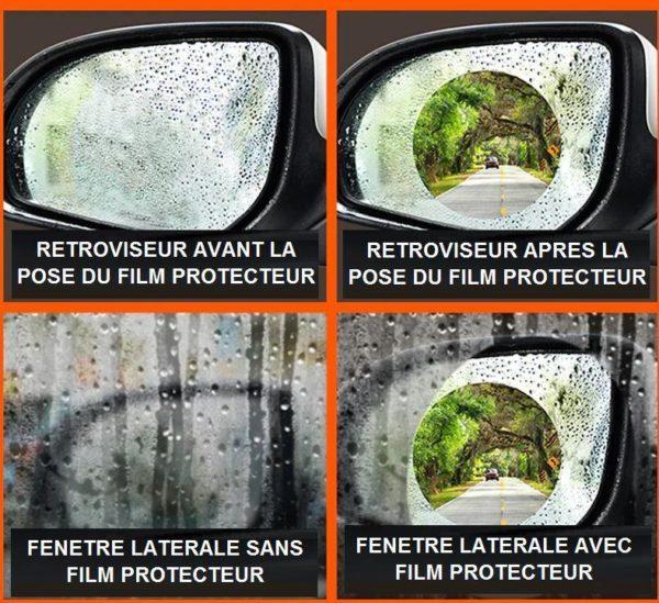 film Film Protecteur Autocollant Anti-Pluie Pour Voiture (Lot De 2)