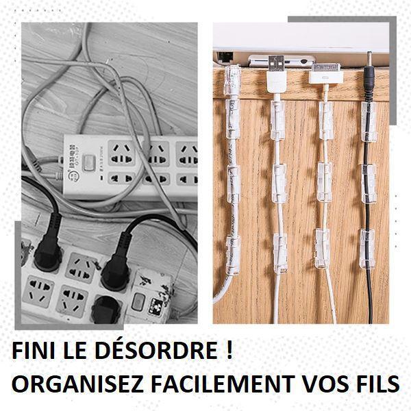 fini5 Attache-Fils Électriques (Lot De 20 Pièces)