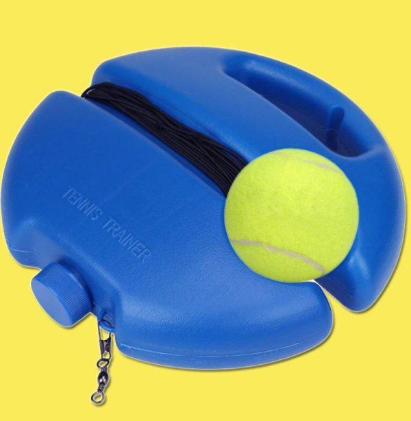 fond jaune Dispositif D'entraînement De Tennis