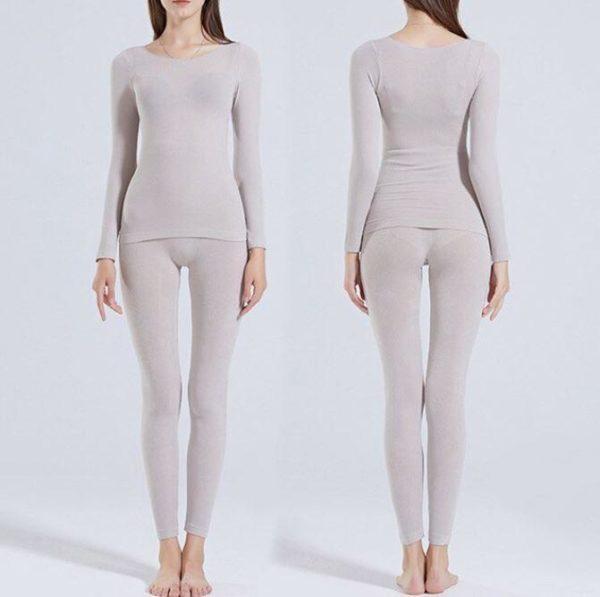 Sous-vêtements Thermiques Élastiques Sans Couture Flash Ventes Gris - Femme