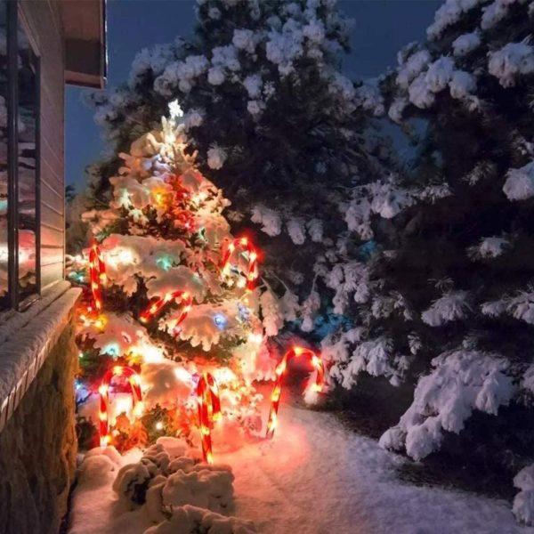 guirlandesucresdorge Guirlande Sucres D'orge Lumineuse De Noël (Lot De 4)