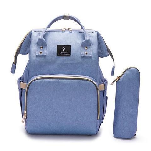 Sac à Dos pour Enfant avec Chargeur USB & Chauffe-biberon raton-malin Bleu Violet