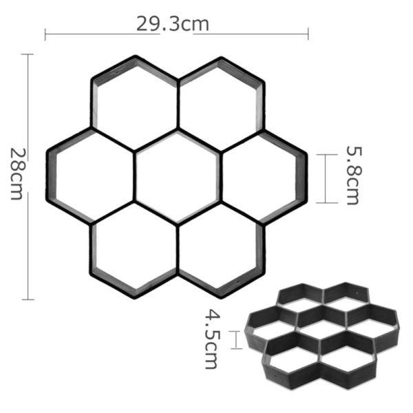 hexagone a2c2bfec b344 425d 9ecb bc7d7552ab26 Moule De Pavage, La Meilleure Solution Pour Des Pavés Bien Formés