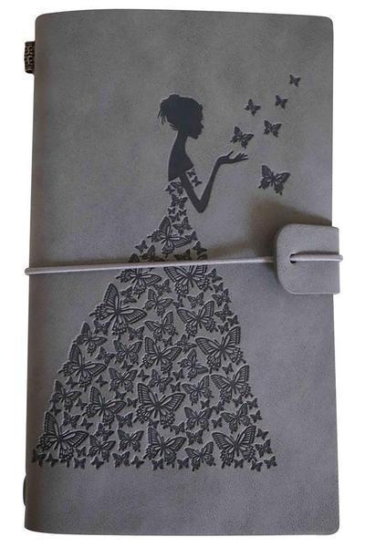 Journal de Voyage Femme-Papillon raton-malin Gris