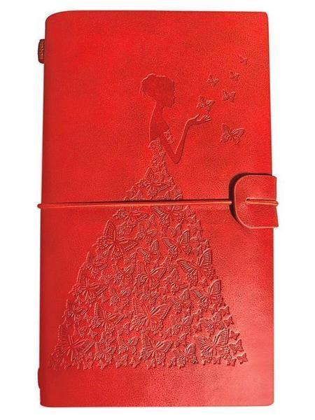 Journal de Voyage Femme-Papillon raton-malin Rouge