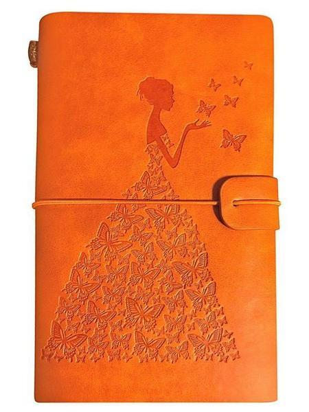 Journal de Voyage Femme-Papillon raton-malin Orange