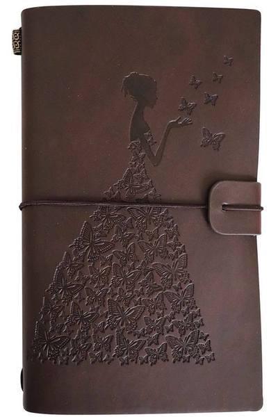 Journal de Voyage Femme-Papillon raton-malin Marron