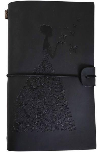 Journal de Voyage Femme-Papillon raton-malin Noir