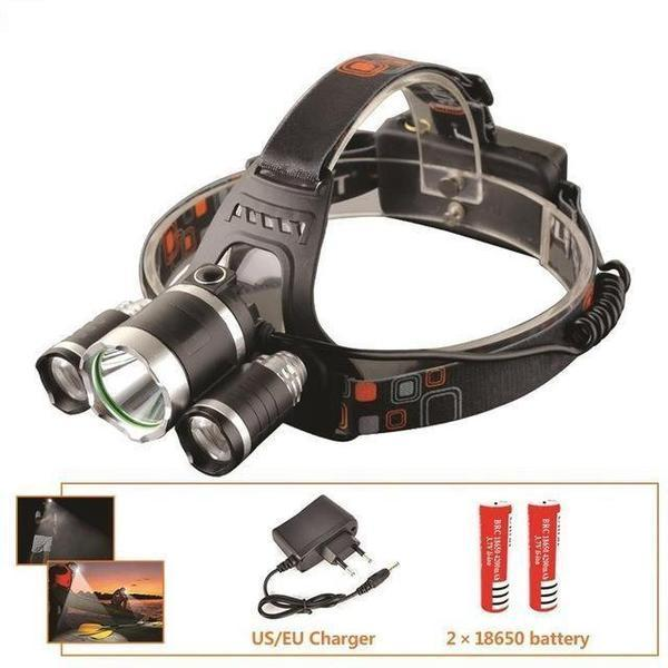 lampe2 Super Lampe Frontale - 12000 Lumen, Xm-L T6