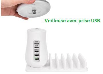 lampe2 d75df9a4 3409 46f1 9151 247aae0c92d1 Socle De Chargement Rapide Multi-Port & Lampe (5 Ports)