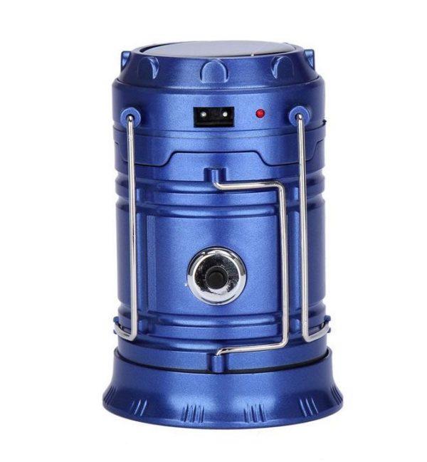Lanterne De Camping 3-en-1 - Lampe De Poche LED Effet Flamme Raton Malin Bleu