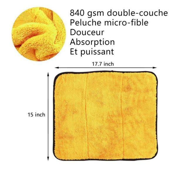nettoyage de la vaisselle Serviette Microfibre, Le Meilleur Moyen Pour Nettoyer Sa Voiture