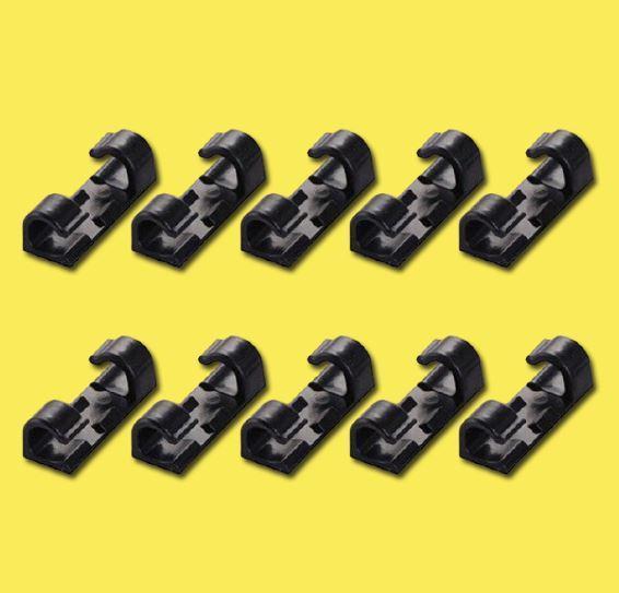 Attache-fils électriques (Lot de 20 pièces) Flash Ventes Noir