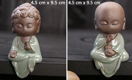 nouveau montage Petite Statue Bouddha En Céramique