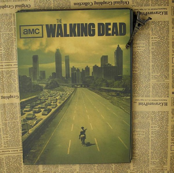 "p2 b4ca2903 6f2a 40ce b9d2 39403121a18f Décorations Murales Autocollantes ""The Walking Dead"""
