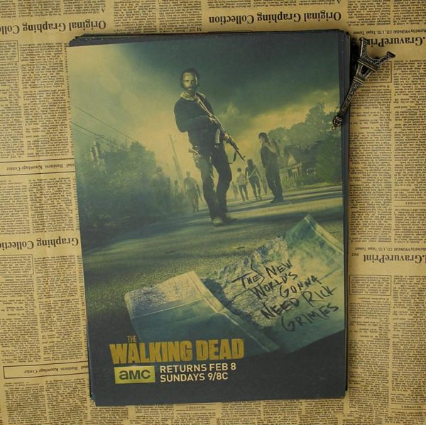 "p4 a58ce48e ddb5 40ed ac99 b6291f57415b Décorations Murales Autocollantes ""The Walking Dead"""