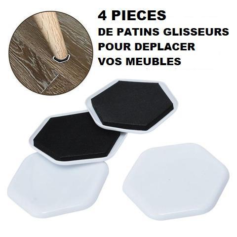 pack1 Patins Glisseurs Pour Meubles (4 Pièces)