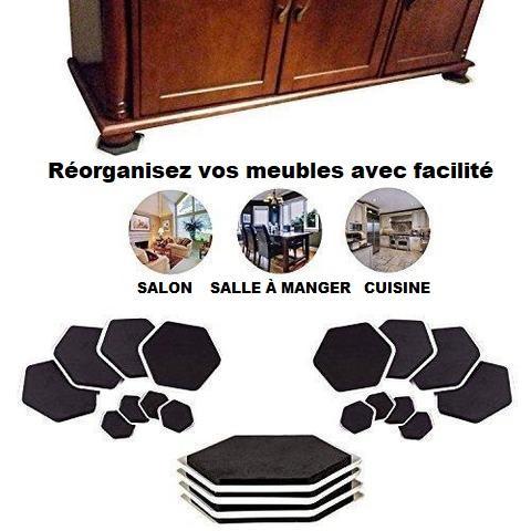 pack4 Patins Glisseurs Pour Meubles (4 Pièces)