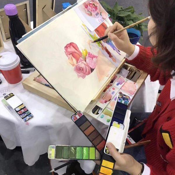 paletteaquarellevide Le Coffret Aquarelle Éventail I Love Art Pour Vos Œuvres D'art