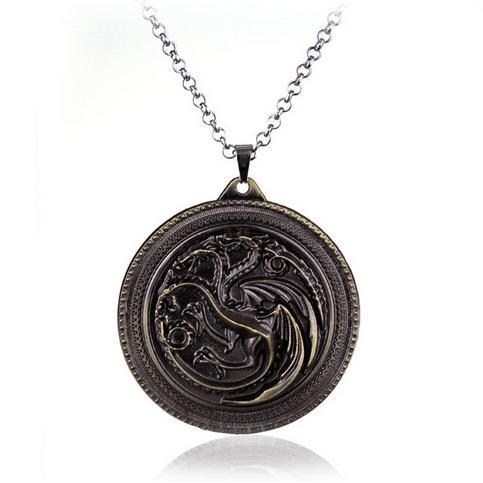 pend13 aaa2719d c736 4ee2 8c36 8347c65c6a76 Collier Pendentif Game Of Thrones - Maison Targaryen