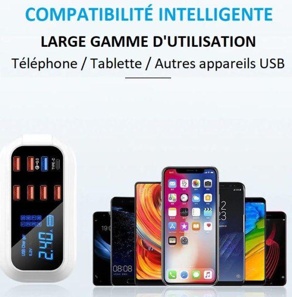 phone5 750c3112 ad6a 4a50 a949 41de8c46c5a4 Chargeur Rapide Usb 8 Ports 3.0 Affichage Lcd