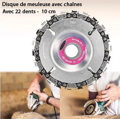 photoshop disque 2 Disque Meuleuse Avec Chaîne De 22 Dents