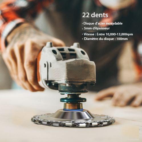 photoshop disque 3 Disque Meuleuse Avec Chaîne De 22 Dents