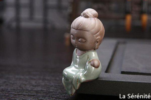 pour mon 4 Petite Statue Bouddha En Céramique