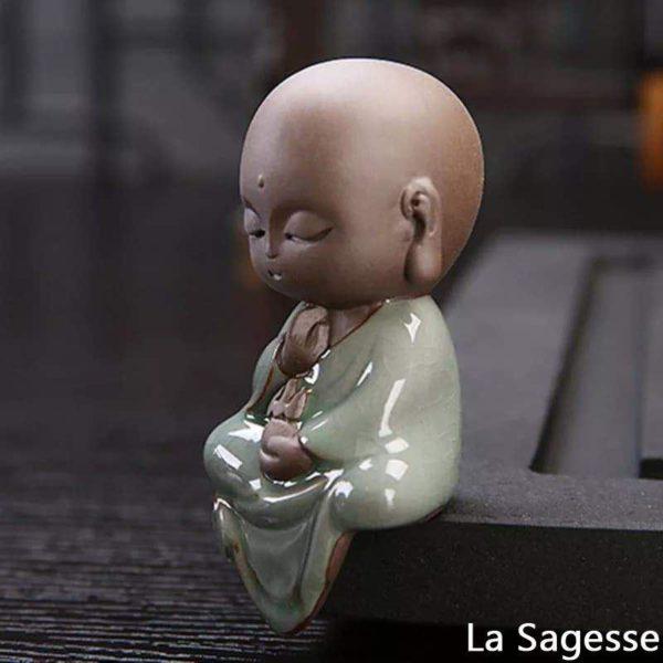 pour mon 5 Petite Statue Bouddha En Céramique