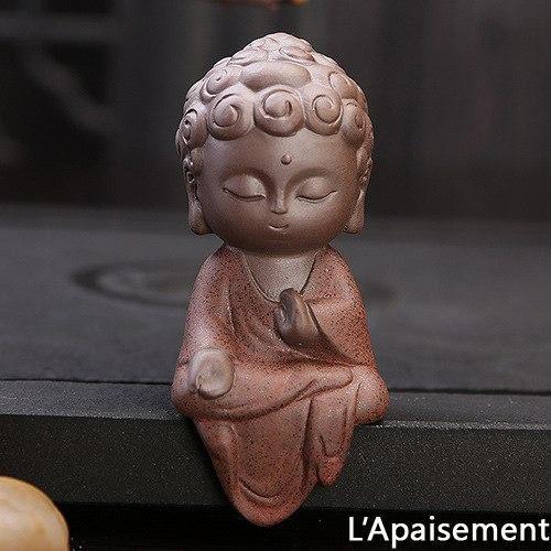pour mon 7 Petite Statue Bouddha En Céramique