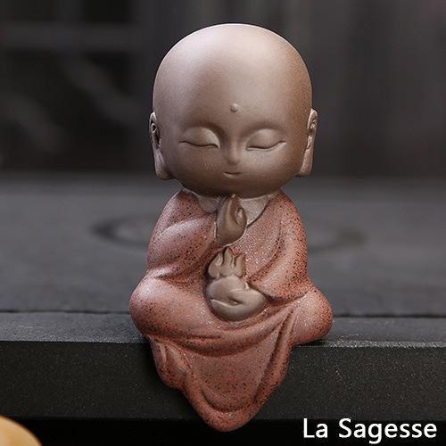 pour mon 9 Petite Statue Bouddha En Céramique