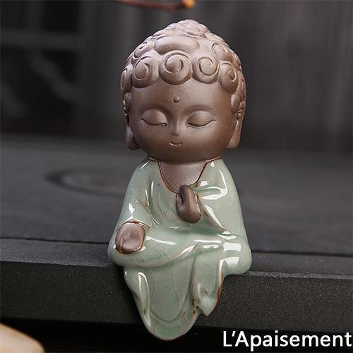 pour mon Petite Statue Bouddha En Céramique