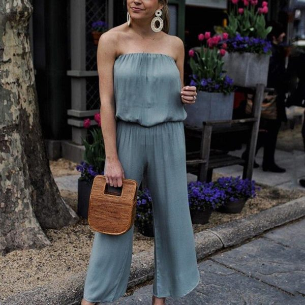 Combinaison pantalon bustier Minute Mode Bleu L