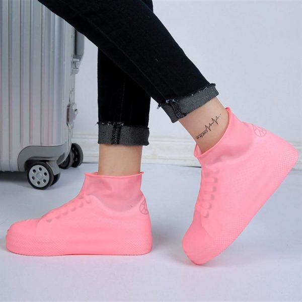 Couvre-chaussures Imperméables En Silicone Raton Malin Rose L