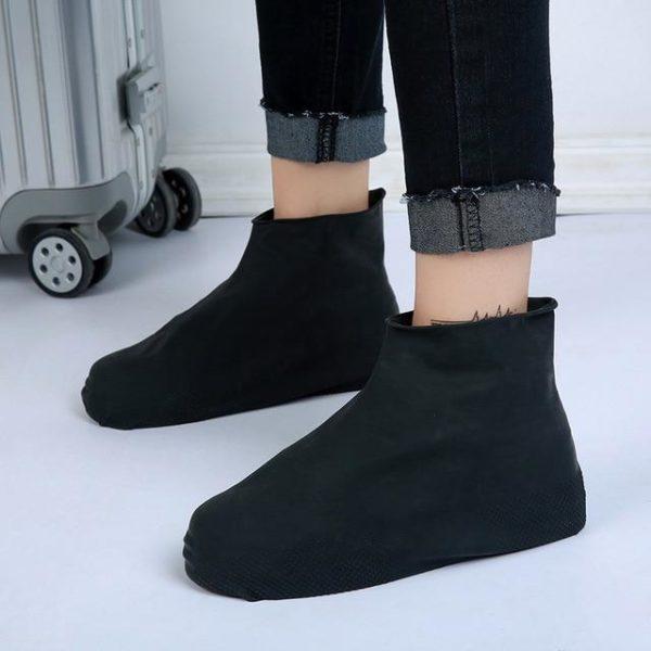 Couvre-chaussures Imperméables En Silicone Raton Malin Noir M