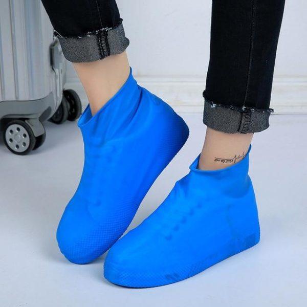 Couvre-chaussures Imperméables En Silicone Raton Malin Bleu M