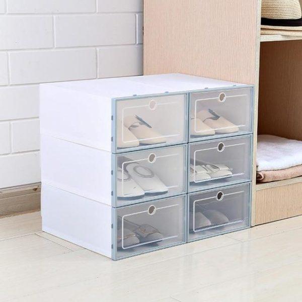 3 Pièces - Boîte De Rangement Pour Chaussures Raton Malin Bleu
