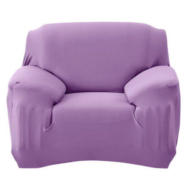 Housse Extensible Pour Canapé Raton Malin Violet 3 Places 190-230 cm