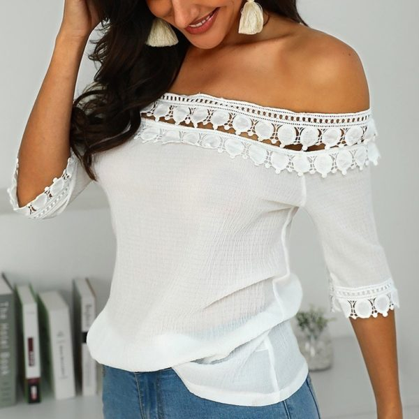 product image 1106260763 Blouse Bardot Dentelle