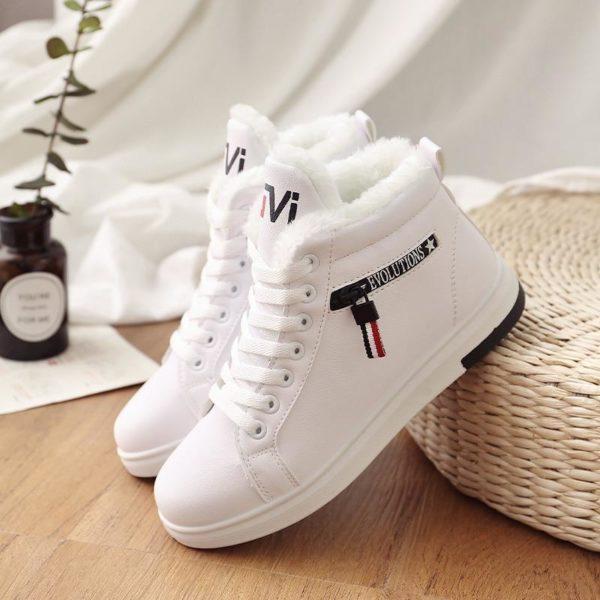 Chaussures Montantes Fourrées Minute Mode Blanc 40