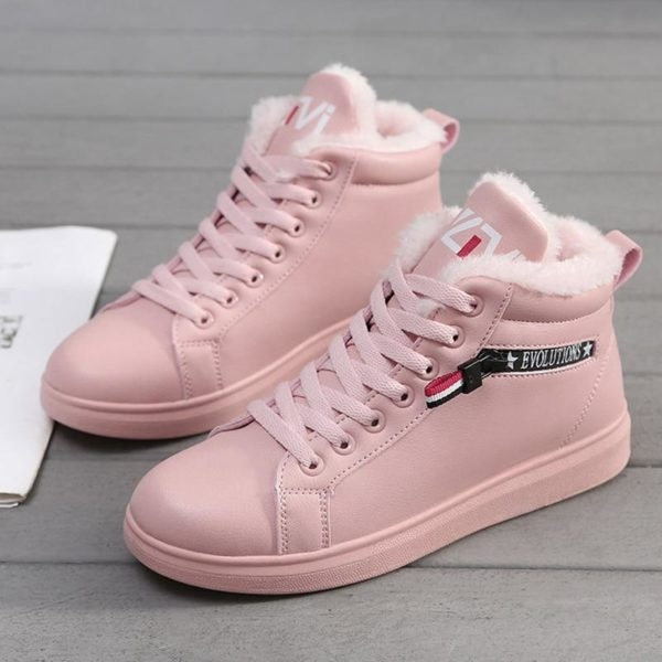 Chaussures Montantes Fourrées Minute Mode Rose 40