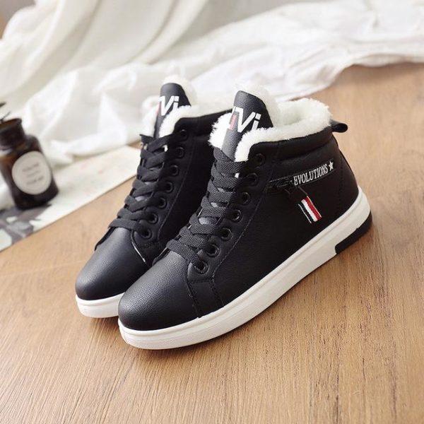 Chaussures Montantes Fourrées Minute Mode Noir 36
