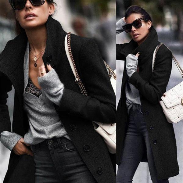 Veste Casual Boutonnée Minute Mode Noir S