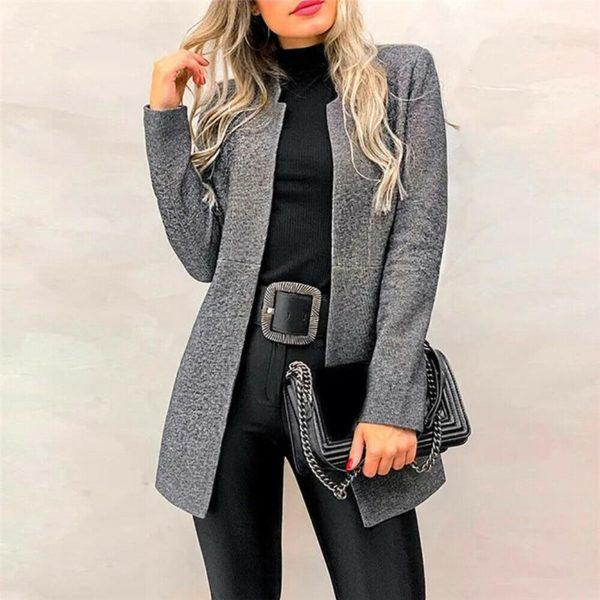 Petite veste élégante Minute Mode Gris L